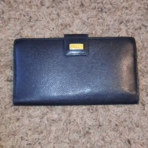 Bally pebbled leather wallet